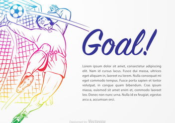 Free Goal Keeper Vector Illustration - бесплатный vector #395125