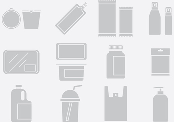 Gray Plastic Pack Icons Set 1 - vector gratuit #395185