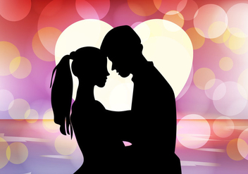 Wedding Proposal With Bokeh Background - vector gratuit #395235