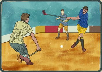 Floorball Player - бесплатный vector #395275