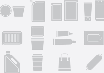 Gray Plastic Pack Icons Set 2 - vector gratuit #395345