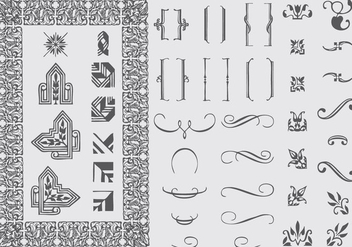 Typographic Ornaments - vector #395365 gratis