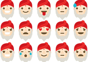 Guru Emoticons - Free vector #395375