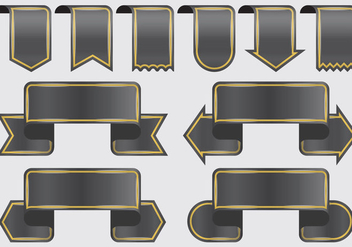 Black Ribbon Banners - vector #395395 gratis