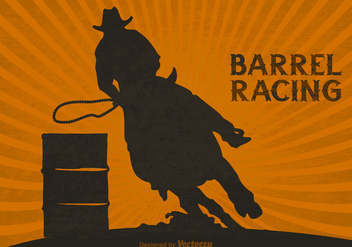 Free Barrel Racing Vector Background - бесплатный vector #395415
