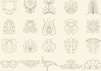 Thin Line Decorations - vector gratuit #395425