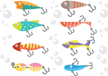 Free Fishing Lure Icons Vector - Free vector #395475