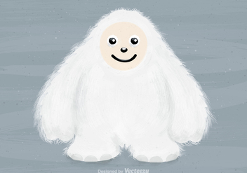 Free Vector Yeti Character - Kostenloses vector #395555