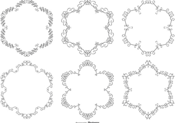 Ornament Vector Frame Collection - vector #395605 gratis
