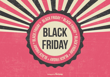 Black Friday Retro Illustration - vector gratuit #395675