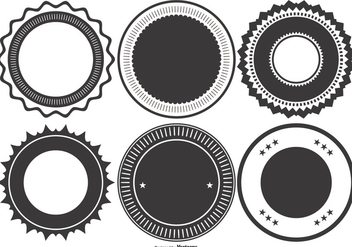 Blank Retro Style Badge Collection - vector #395735 gratis