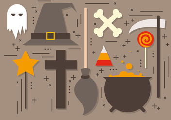 Free Halloween Elements Vector Collection - бесплатный vector #395765