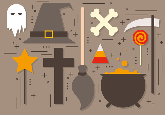 Free Halloween Elements Vector Collection - Free vector #395765