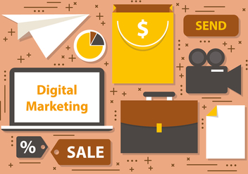 Free Digital Marketing Business Vector Icons - бесплатный vector #395795
