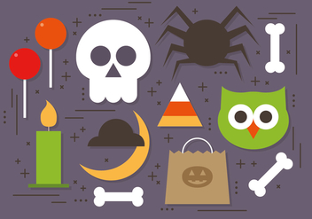 Free Halloween Elements Vector Collection - бесплатный vector #395805