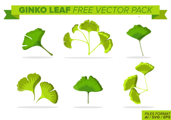 Ginko Leaf Free Vector Pack - Kostenloses vector #395865