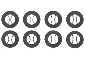 Free Flat Baseball Laces Vector - Kostenloses vector #395875