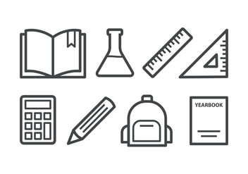 Free School Icon Set - vector gratuit #395885