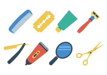 Free Barber Shop Icon Set - Free vector #395905
