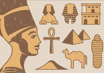Egypt Icons - vector #395925 gratis