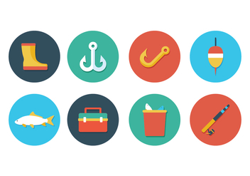 Free Fishing Icon Set - vector gratuit #395955