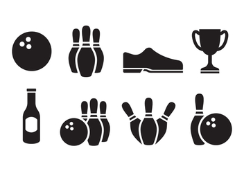 Free Bowling Icon Set - бесплатный vector #396005