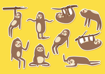 Free Sloth Cartoon Vector - Kostenloses vector #396025