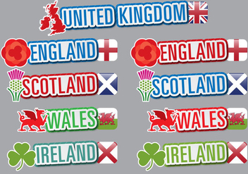 UK Titles - vector gratuit #396045