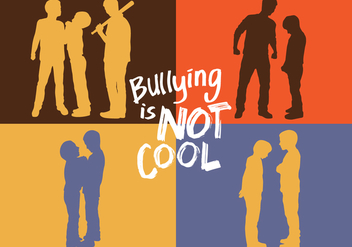 Bullying Silhouette - vector #396075 gratis