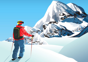 Everest Climber - vector gratuit #396215