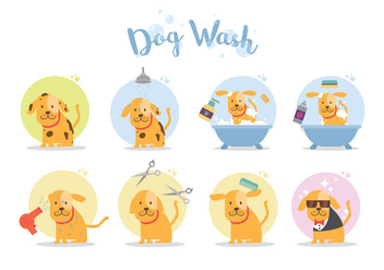Free Dog Wash Vector - vector gratuit #396325