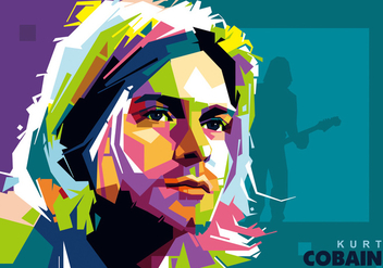 Kurt Cobain in Popart Portrait - Free vector #396345
