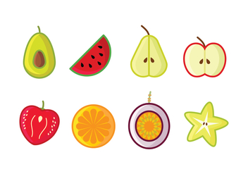 Free Fruit Icon Set - vector gratuit #396365