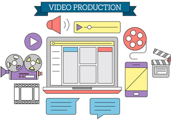 Free Video Production Icons - vector gratuit #396385