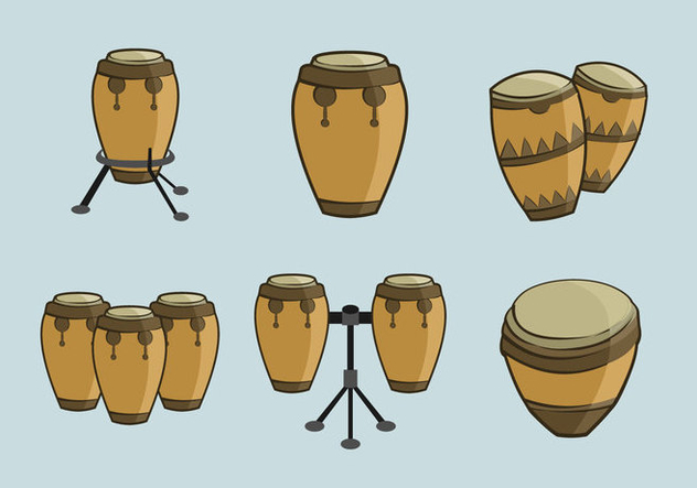 Conga traditional music percussion - vector gratuit #396395