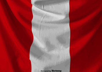 Wrinkled Vector Peru Flag Illustration - Free vector #396465