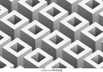 Vector pattern with 3D geometric shapes - vector gratuit #396475