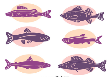 Fish Silhouette Collecion Vector - Free vector #396605