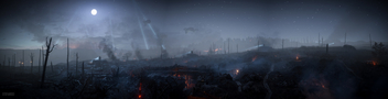 Battlefield 1 / Trenches at Full Moon - image gratuit #396655