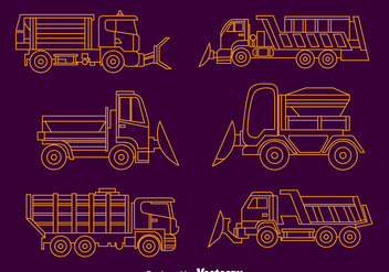 Snow Plow Collection Vector - vector #396705 gratis