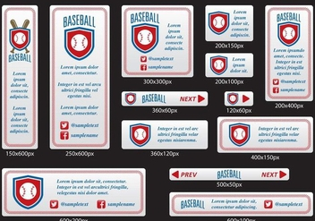 Baseball Banners - Kostenloses vector #396795