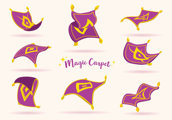 Purple Magic Carpet Vector - vector gratuit #396845