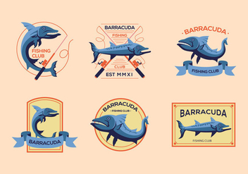Barracuda old logo vintage vectors - бесплатный vector #396855
