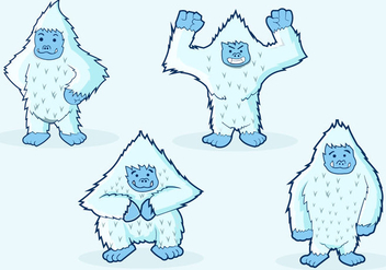 Yeti Character Illustrations - Free vector #396875