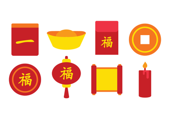 Free Chinese Icon Set - vector gratuit #396915