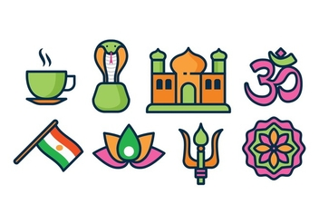 Free India Icons - vector gratuit #396925