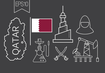 Free Qatar Vector Icons - Free vector #396995