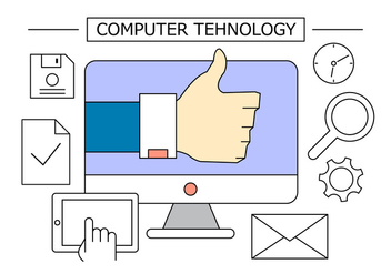 Computer Technology Office Icons - vector #397035 gratis