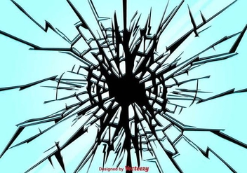 Broken Glass Vector Background - vector gratuit #397055