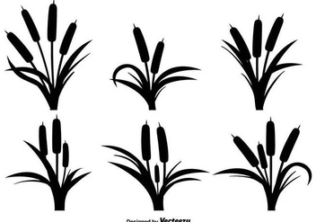 Reeds Black Icons Vector Set - Free vector #397065